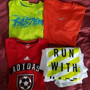 Pack of 6 Adidas/Nike T Shirts Boys XL &Men's L